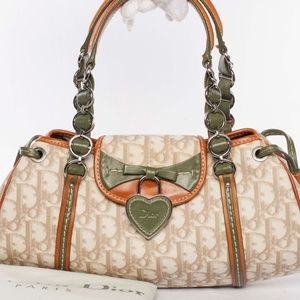 Auth CHRISTIAN DIOR Romantique Trotter Handbag